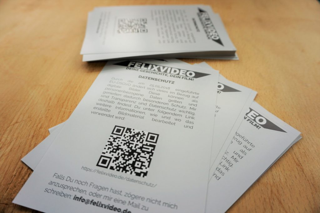 Flyer mit DSGVO Hinweisen zum Datenschutz